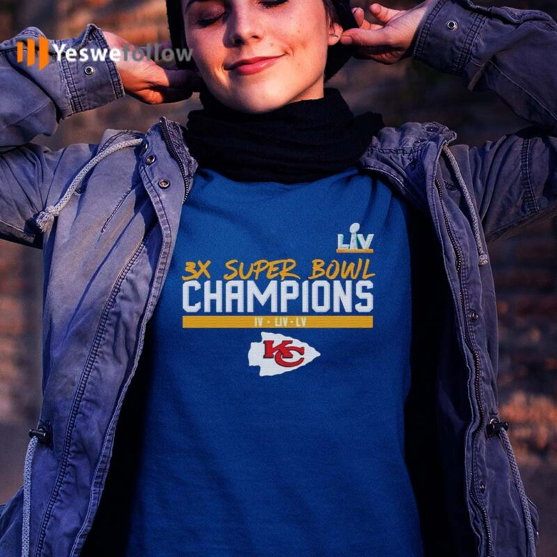 kansas-city-chiefs-3x-super-bowl-champions-Shirt