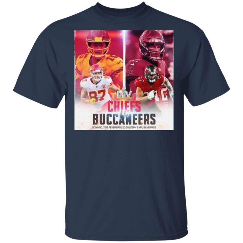 Super Bowl LV Kansas City Chiefs vs Tampa Bay Buccaneers Domingo 7 De Fevereiro t shirt