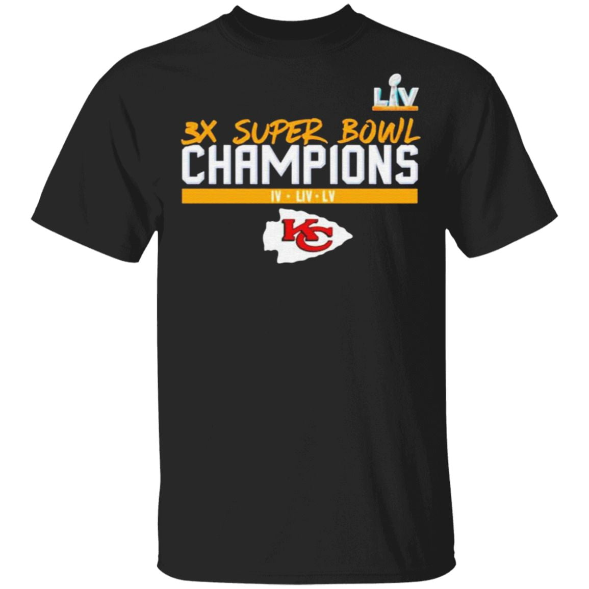 kansas city chiefs 3x super bowl champions Shirt