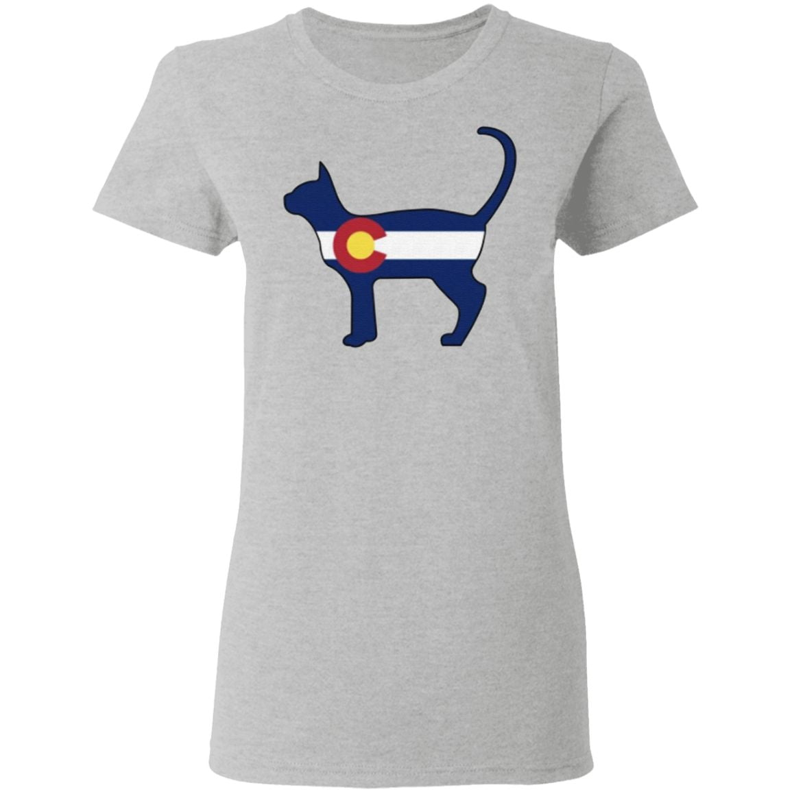State of Colorado Flag for Cat Lovers T-Shirt