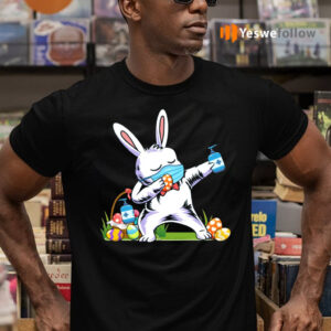 2021 Dabbing Easter Bunny Wearing Mask Shirt