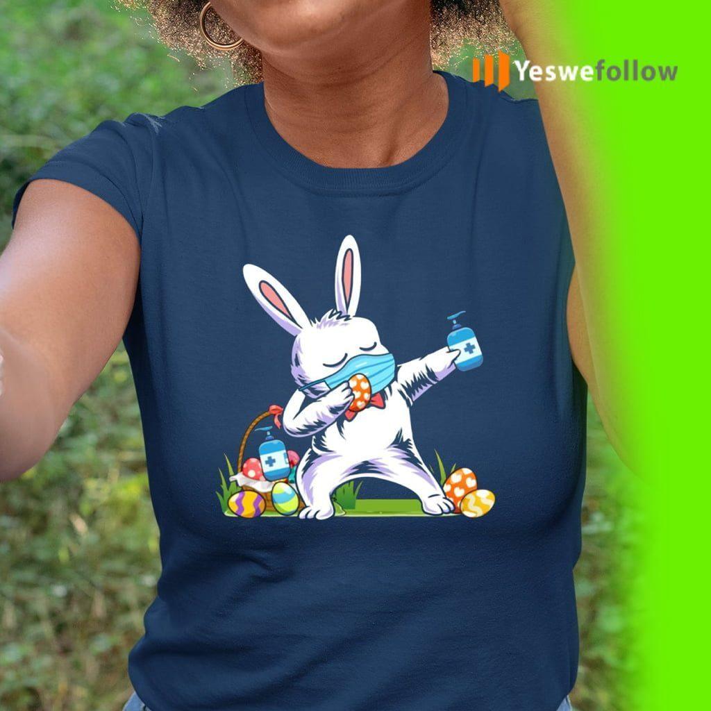 2021 Dabbing Easter Bunny Wearing Mask Shirts