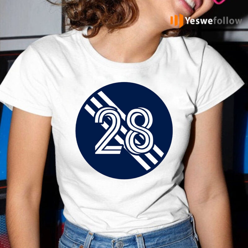 A J DeLaGarza Number 28 Jersey New England Revolution Inspired T-Shirt