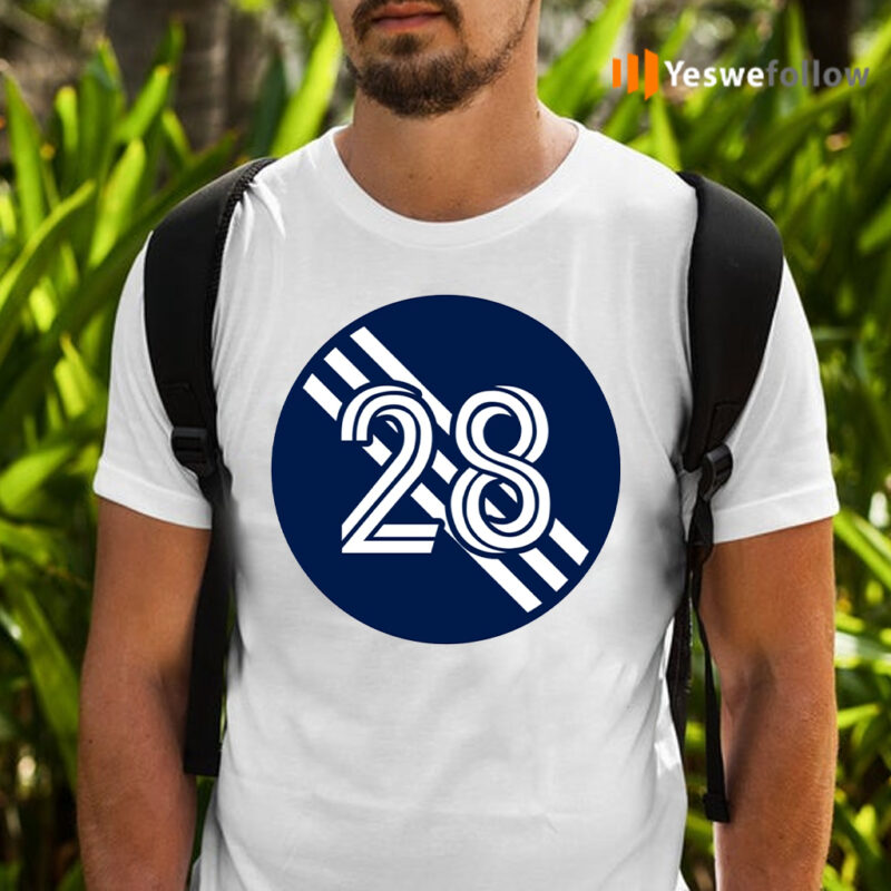 A J DeLaGarza Number 28 Jersey New England Revolution Inspired T-Shirts