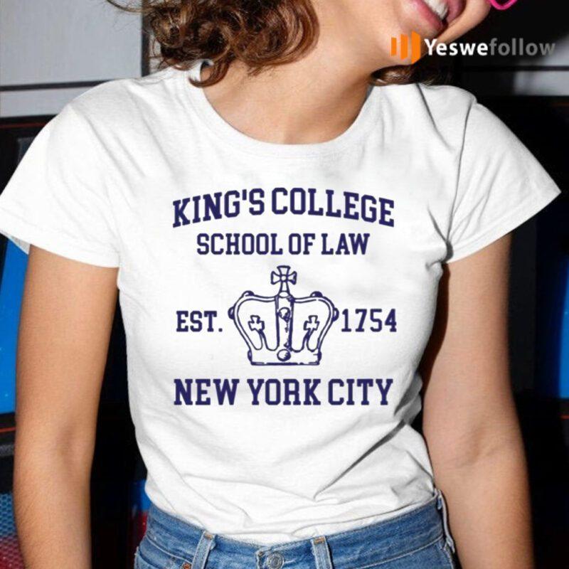 Alexander Hamilton King's College School Of Law Est 1954 New York City Shirt