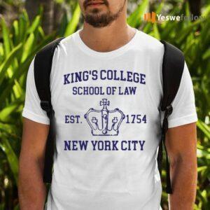 Alexander Hamilton King's College School Of Law Est 1954 New York City TeeShirt