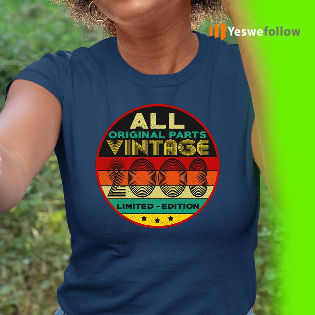 All Original Parts Vintage 2003 Limited Edition TeeShirts