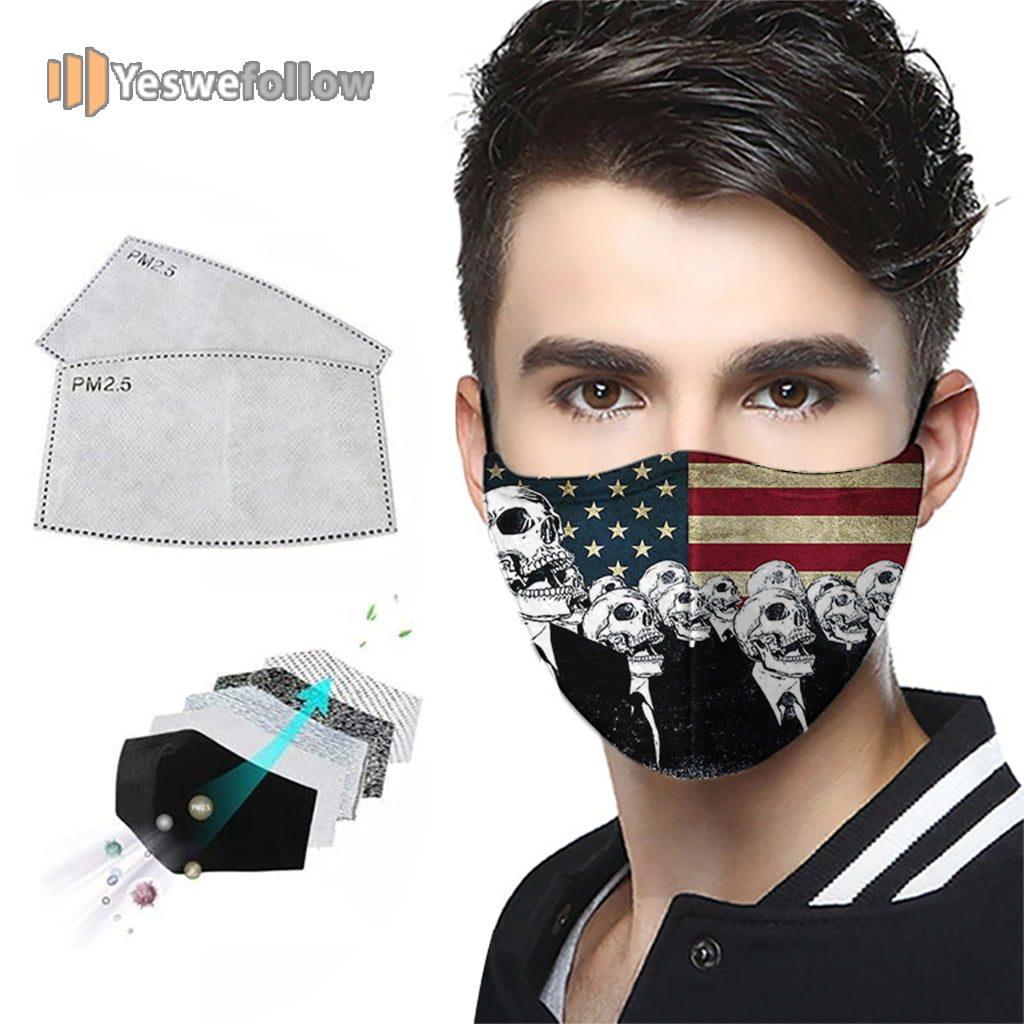 American Flag Skull Face Mask American Flag Skull Sport Mask