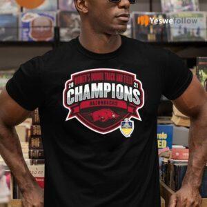 Arkansas Razorbacks 2021 SEC Women's Indoor Track & Field Conference Champions Shirt