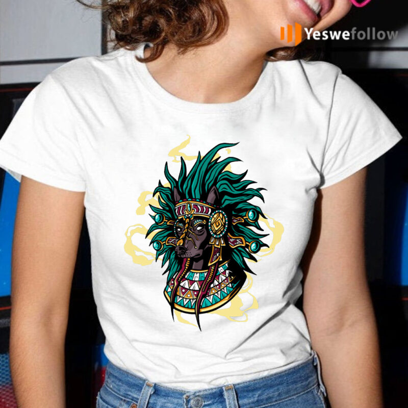 Aztec Dog Breed Mystical Native American T-Shirt