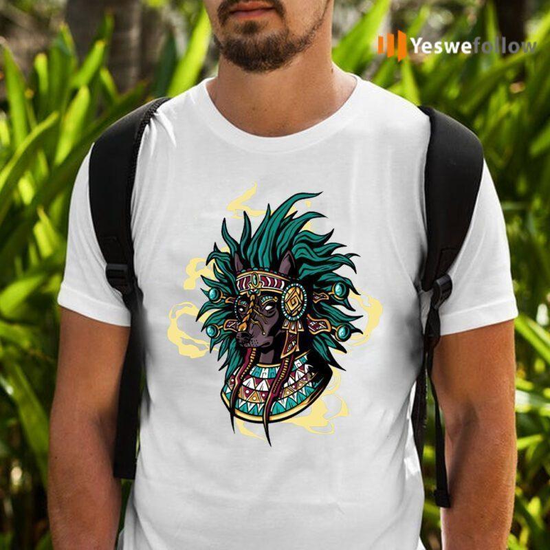 Aztec Dog Breed Mystical Native American T-Shirts