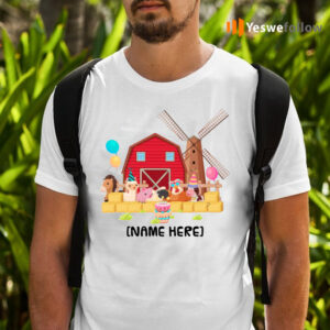 Birthday Farm With Animals T-Shirts