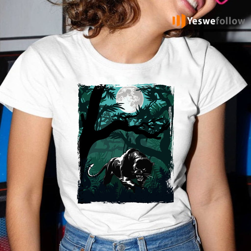 Black Panther In The Jungle T-Shirt