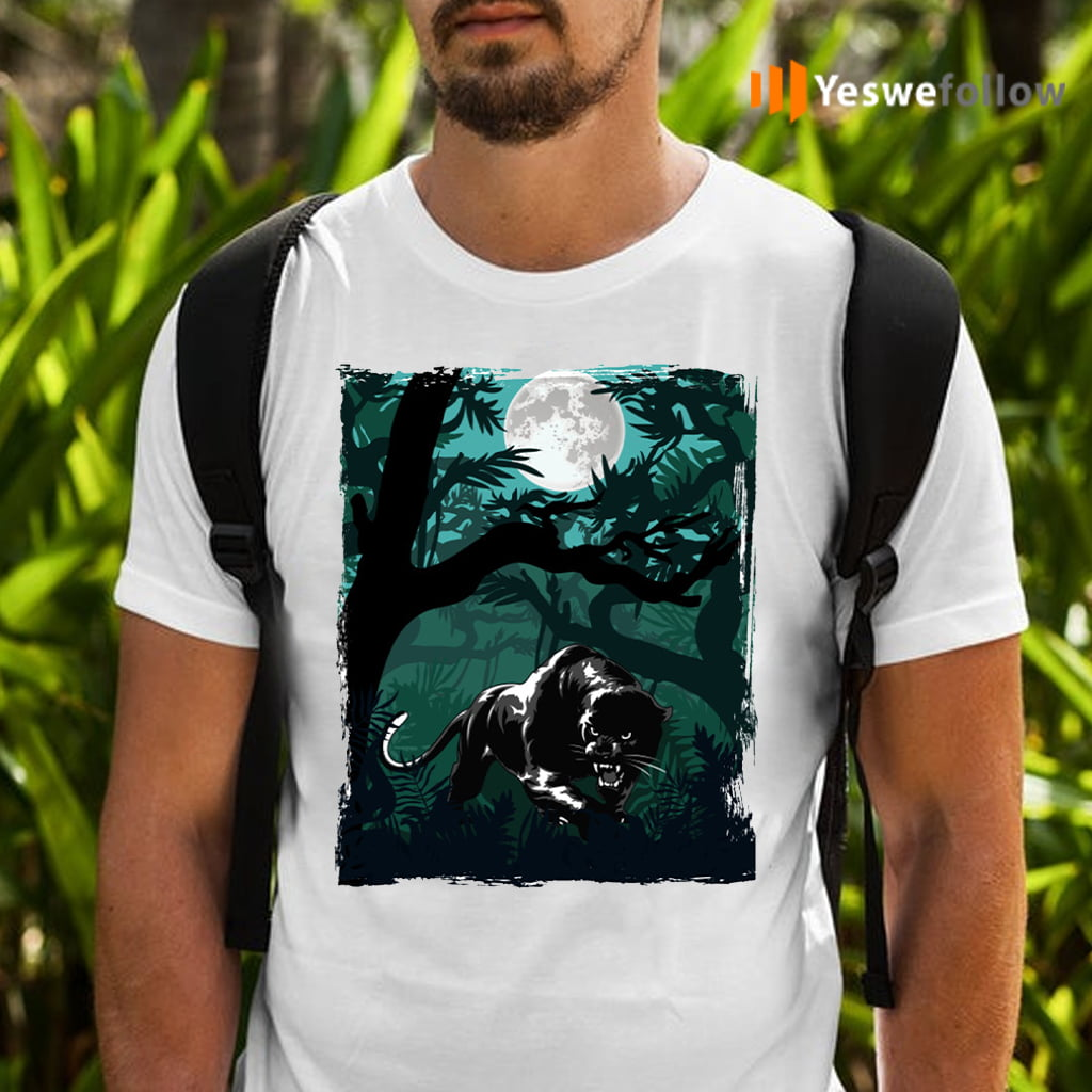 Black Panther In The Jungle T-Shirts