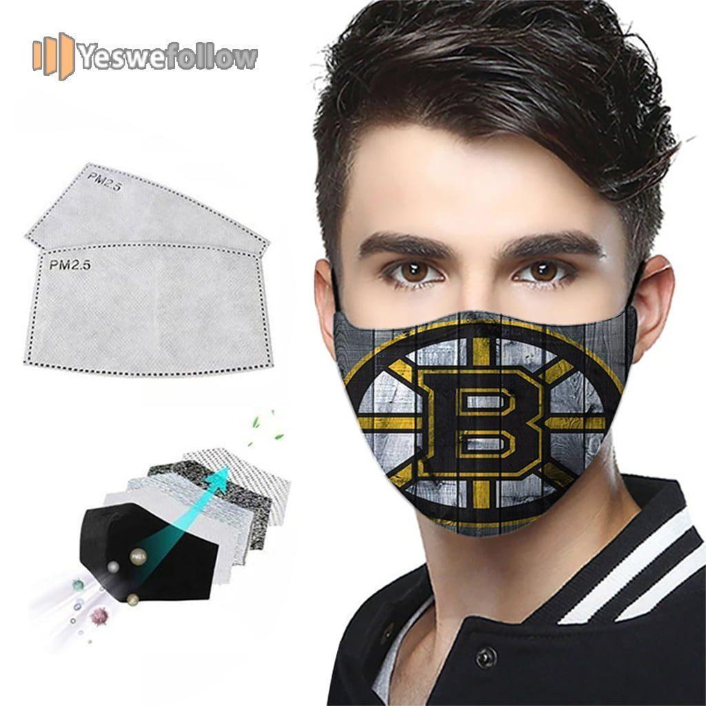 Boston Bruins hockey Cotton Face Mask Boston Bruins hockey Sport Mask