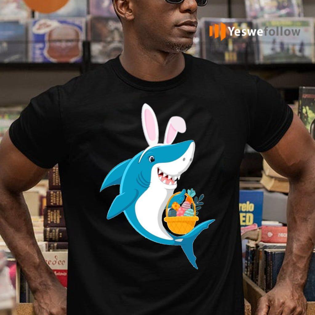 Bunny Shark Doo Doo Doo Easter Egg Shirt