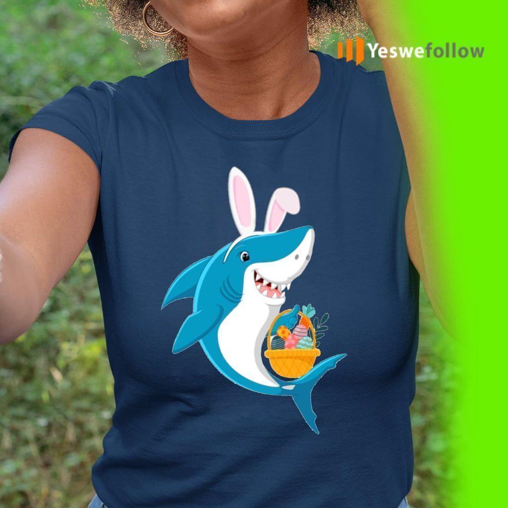 Bunny Shark Doo Doo Doo Easter Egg Shirts