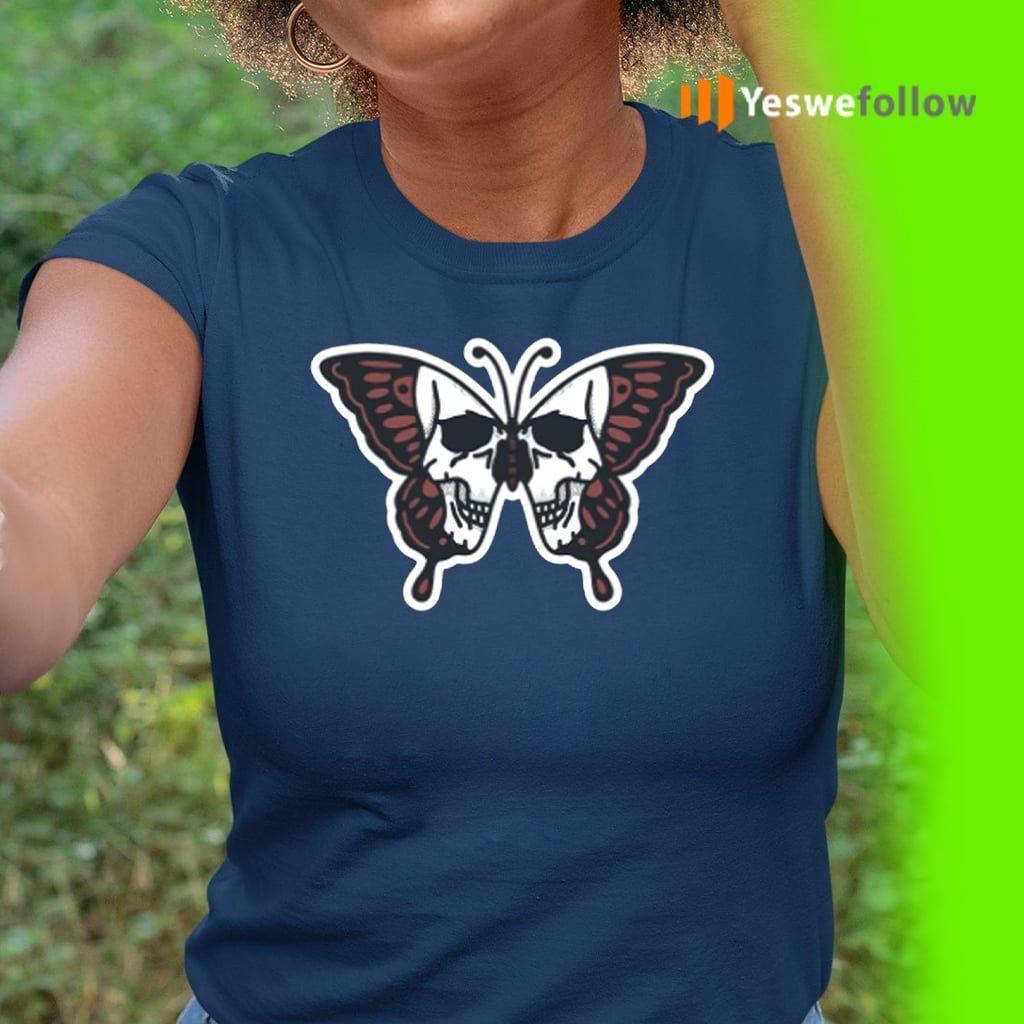 Butterfly Skull Illustration T-Shirt