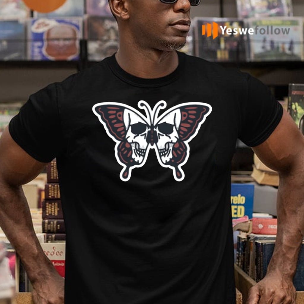 Butterfly Skull Illustration T-Shirts