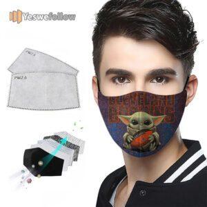 Cleveland Browns Cotton Face Mask Cleveland Browns Sport Mask