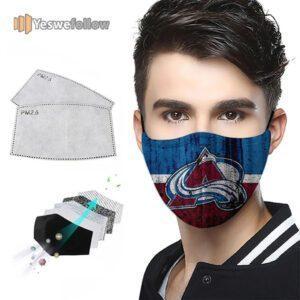 Colorado Avalanche Cotton Face Mask Colorado Avalanche Sport Mask