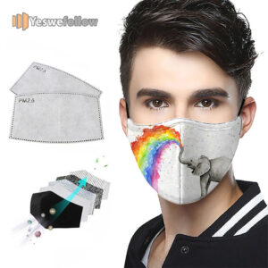 Colorful Rainbow Elephant Animal Lover Gifts Washable Face Mask Colorful Rainbow Elephant Animal Lover Gifts Washable Sport Mask