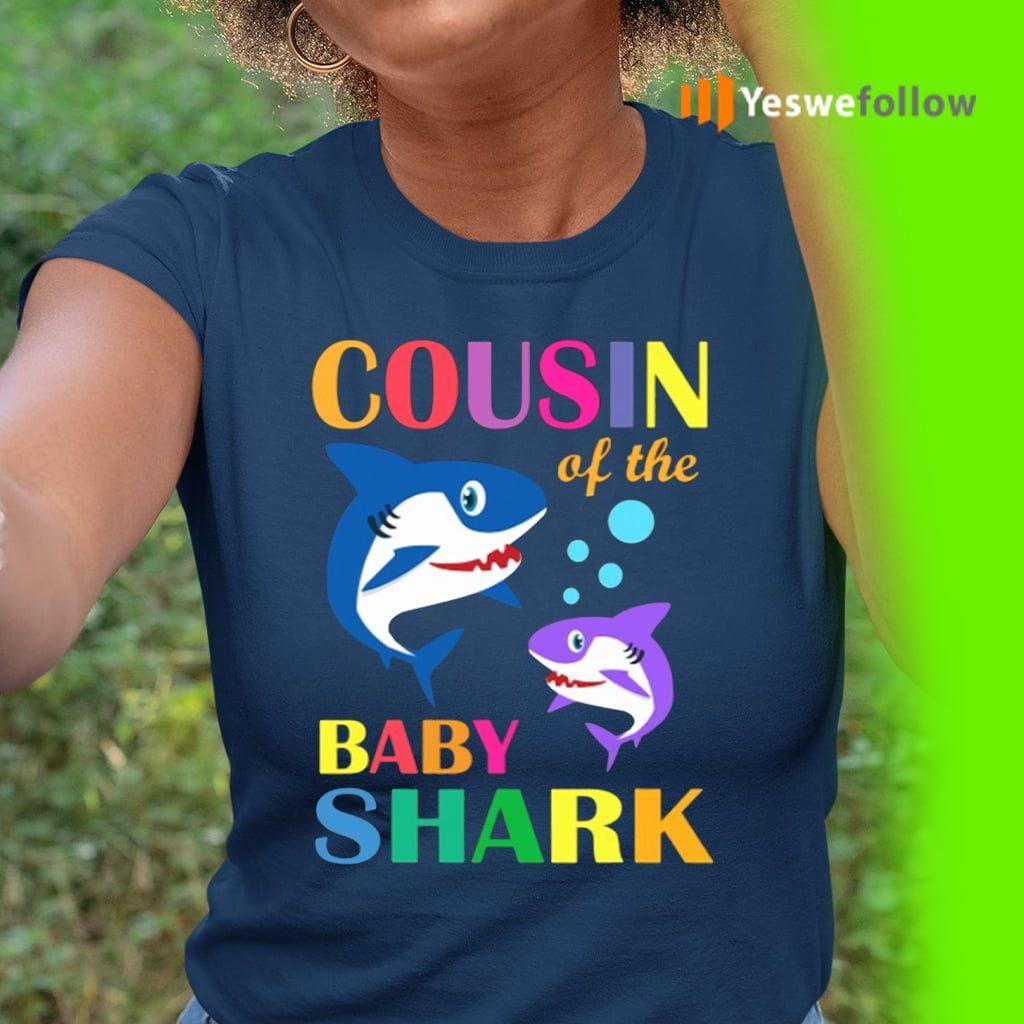 Cousin Of The Baby Birthday Shark Shirt