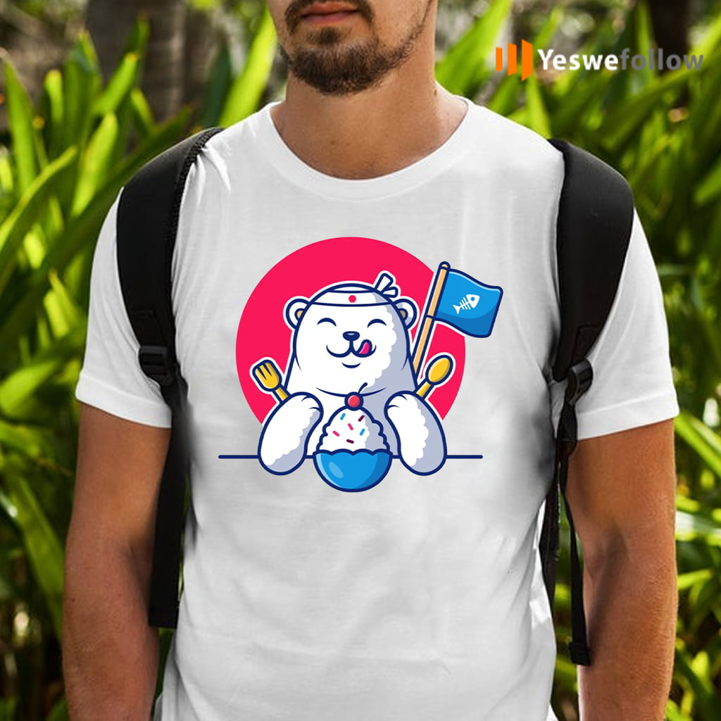 Cute polar bear eating ice cream Shirt