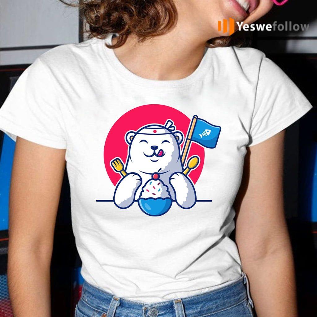 Cute polar bear eating ice cream Shirts