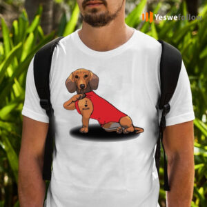Dachshund Tattoo I Love Mom TeeShirt