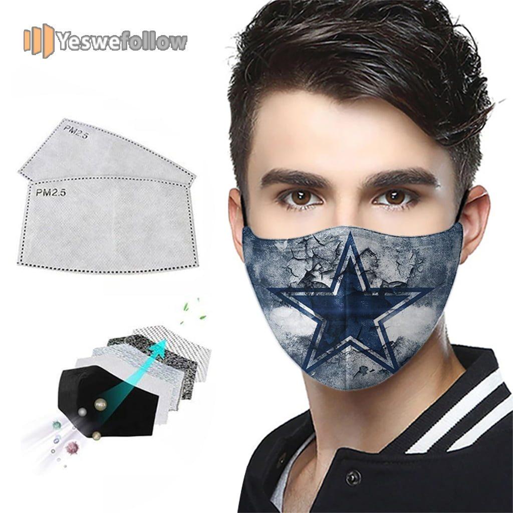 Dallas Cowboys Face Mask Dallas Cowboys US Sport Mask