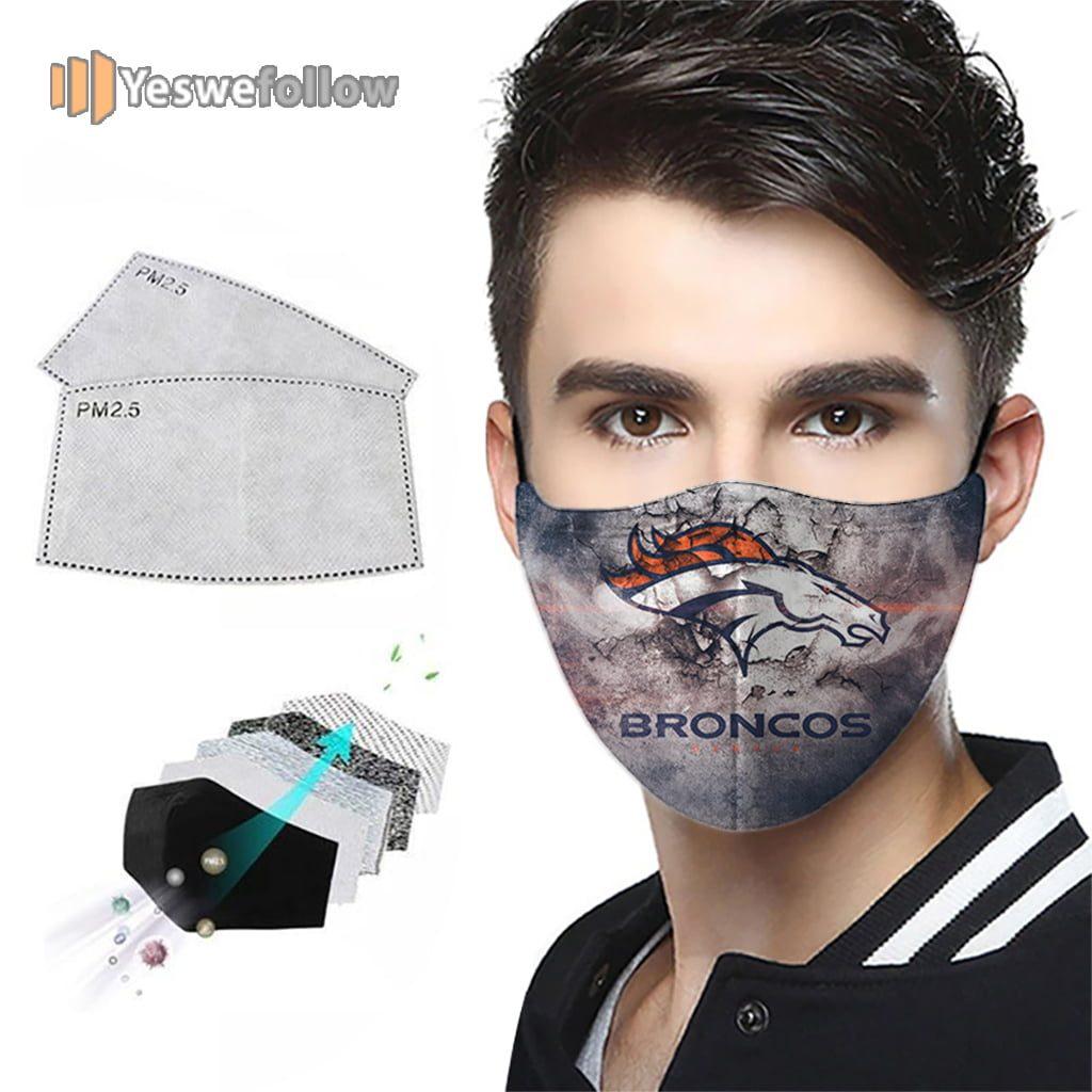 Denver Broncos Face Mask Denver Broncos Sport Mask