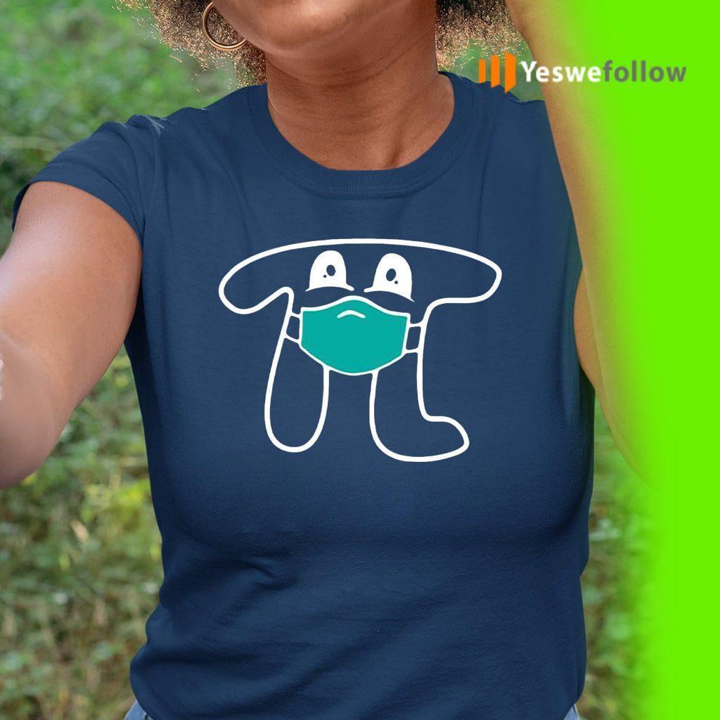 Face Masked Pi Happy Pi's Day Shirts