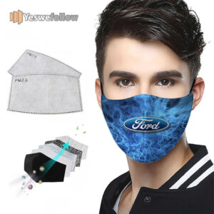 Ford Logo Car Face Mask Ford Logo Car Sport Mask