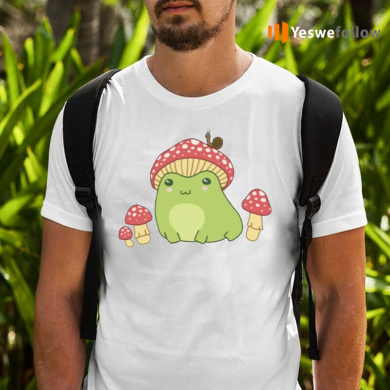 Frog With Mushroom Hat And Snail Shirts