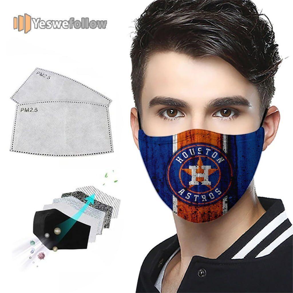 Houston Astros Cotton Face Mask Houston Astros Sport Mask