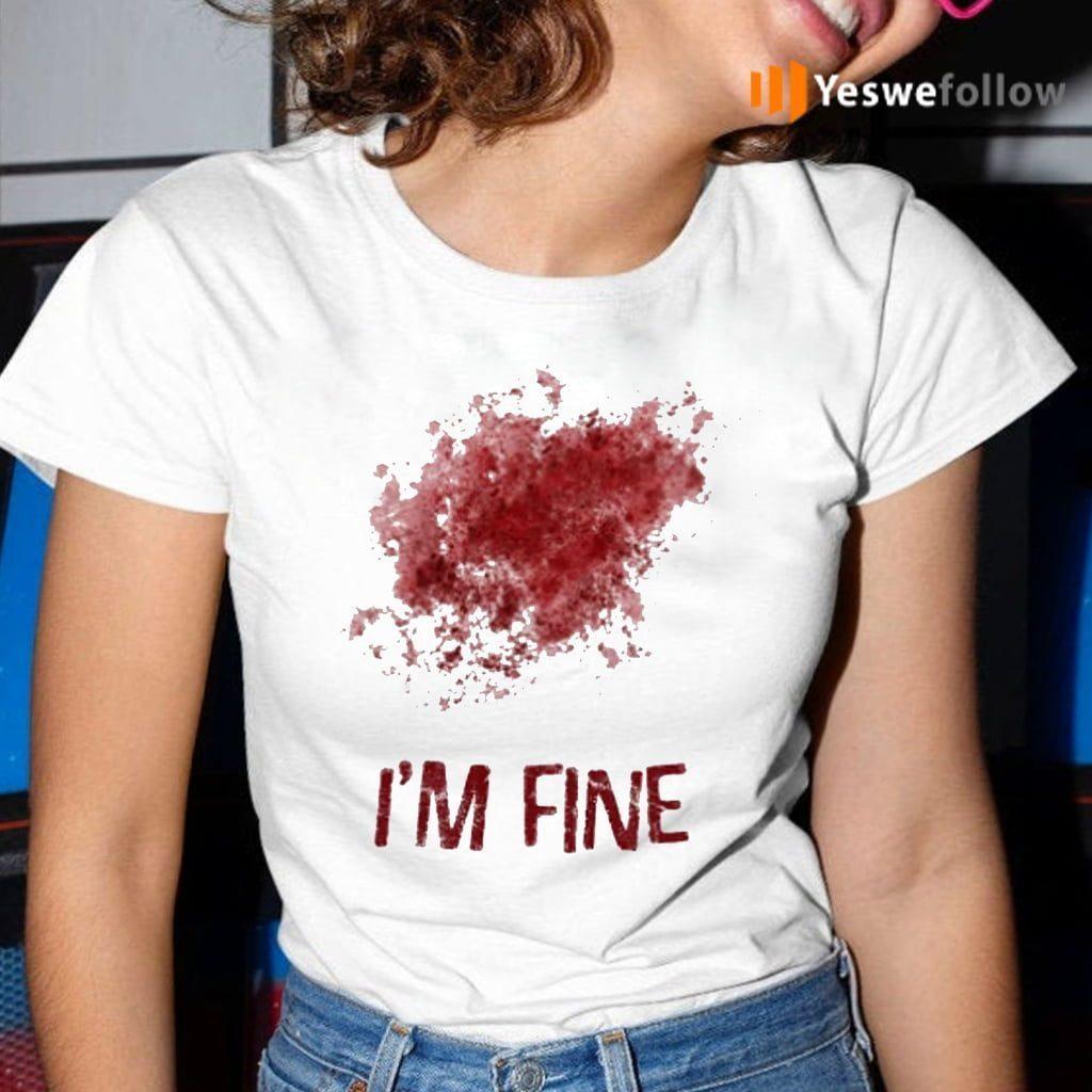 I'm Fine Bloody Zombie Bite T-Shirt