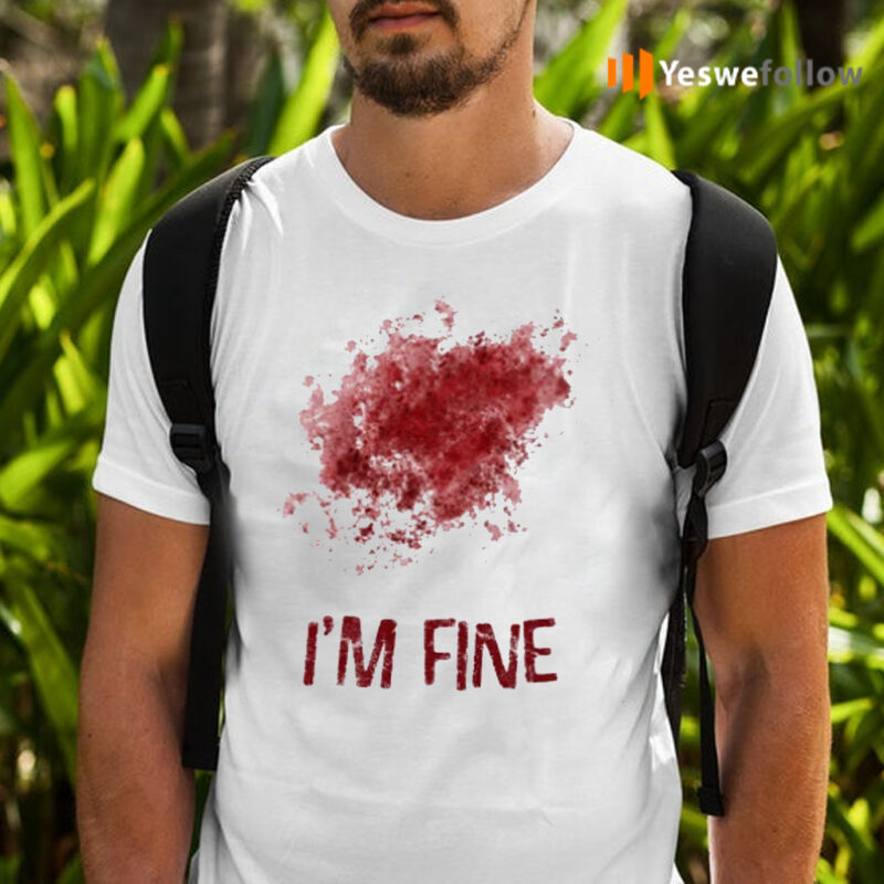 I'm Fine Bloody Zombie Bite T-Shirts