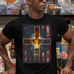 Jesus Is My God My King My Lord My Savior Lion Cross American Flag TeeShirt