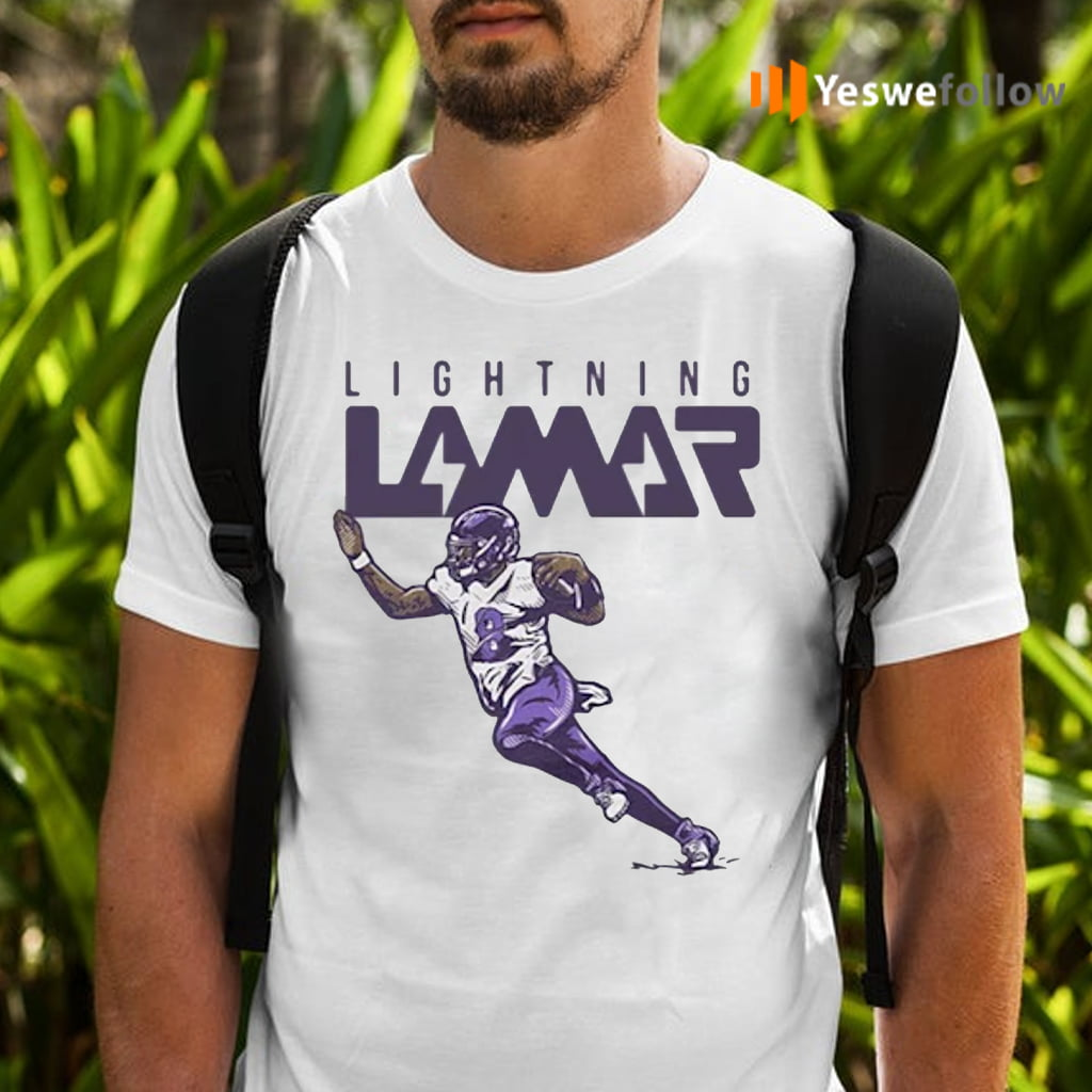 Lamar Jackson Baltimore Ravens Lightning Lamar Shirts