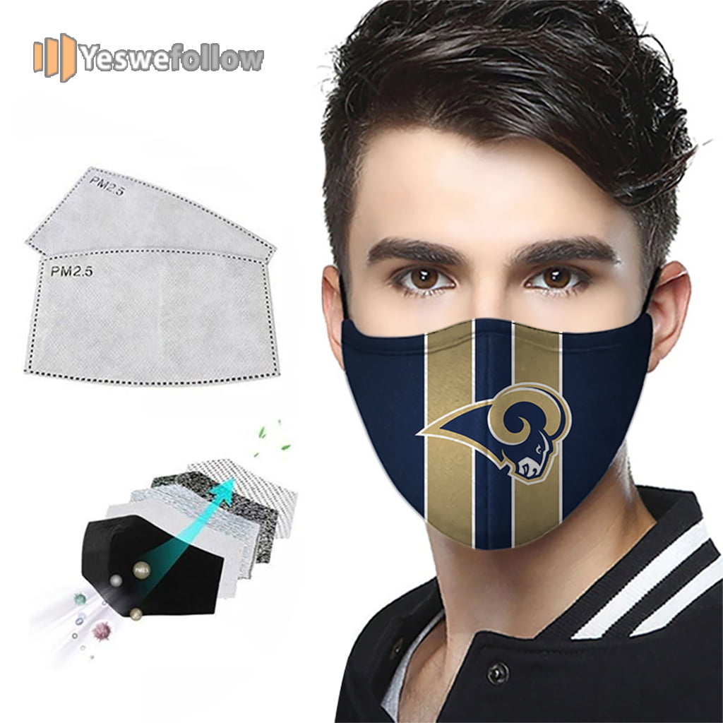 Los Angeles Rams Face Mask Los Angeles Rams Sport Mask
