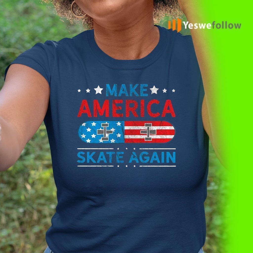 Make America Skate Again US Flag Retro Grunge T-Shirt