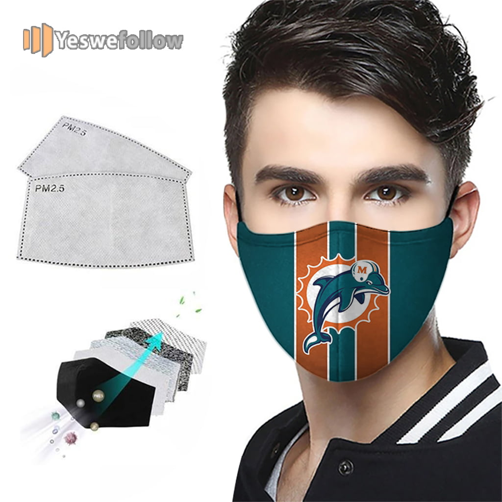 Miami Dolphins Face Mask Miami Dolphins Sport Mask