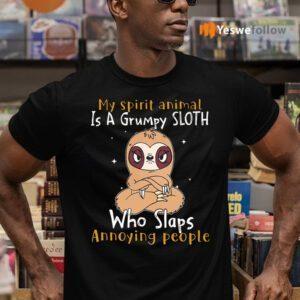 My Spirit Animal Is A Grumpy Sloth Who Slaps Annoying People TShirts