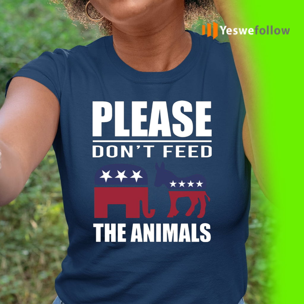 Please Don't Feed The Animals Libertarian Political T-Shirt