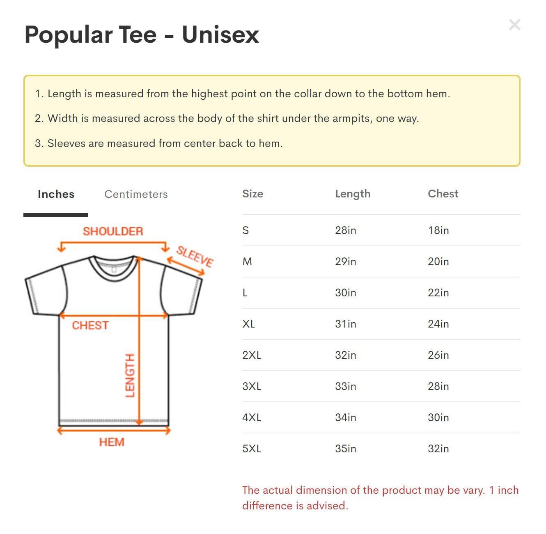 Popular Tee - Unisex size