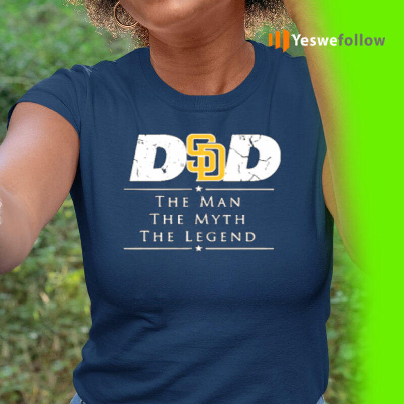 San Diego Padres MLB Baseball Dad The Man The Myth The Legend T-Shirt