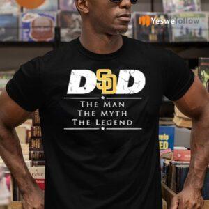 San Diego Padres MLB Baseball Dad The Man The Myth The Legend T-Shirts
