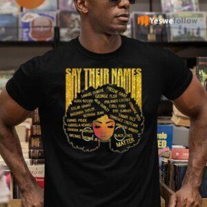 Say Their Names Afro Ladies Shirt