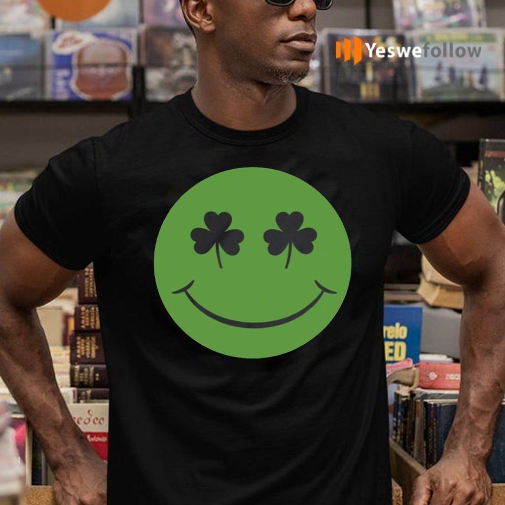 Shamrock Green Happy Face St Patricks Day TeeShirt